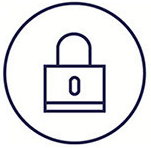 A secured lock justiposed with a file that is having information stole out of it