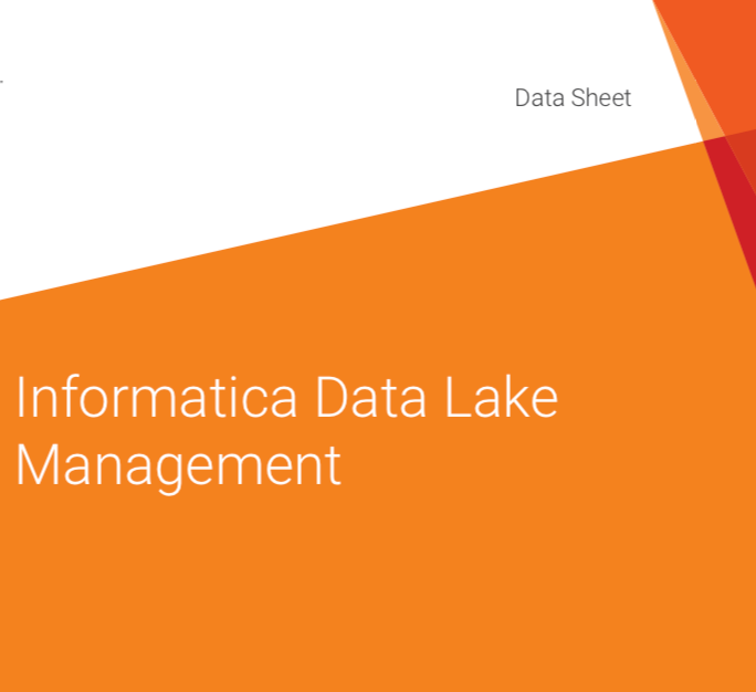 Informatica Data Lake Management