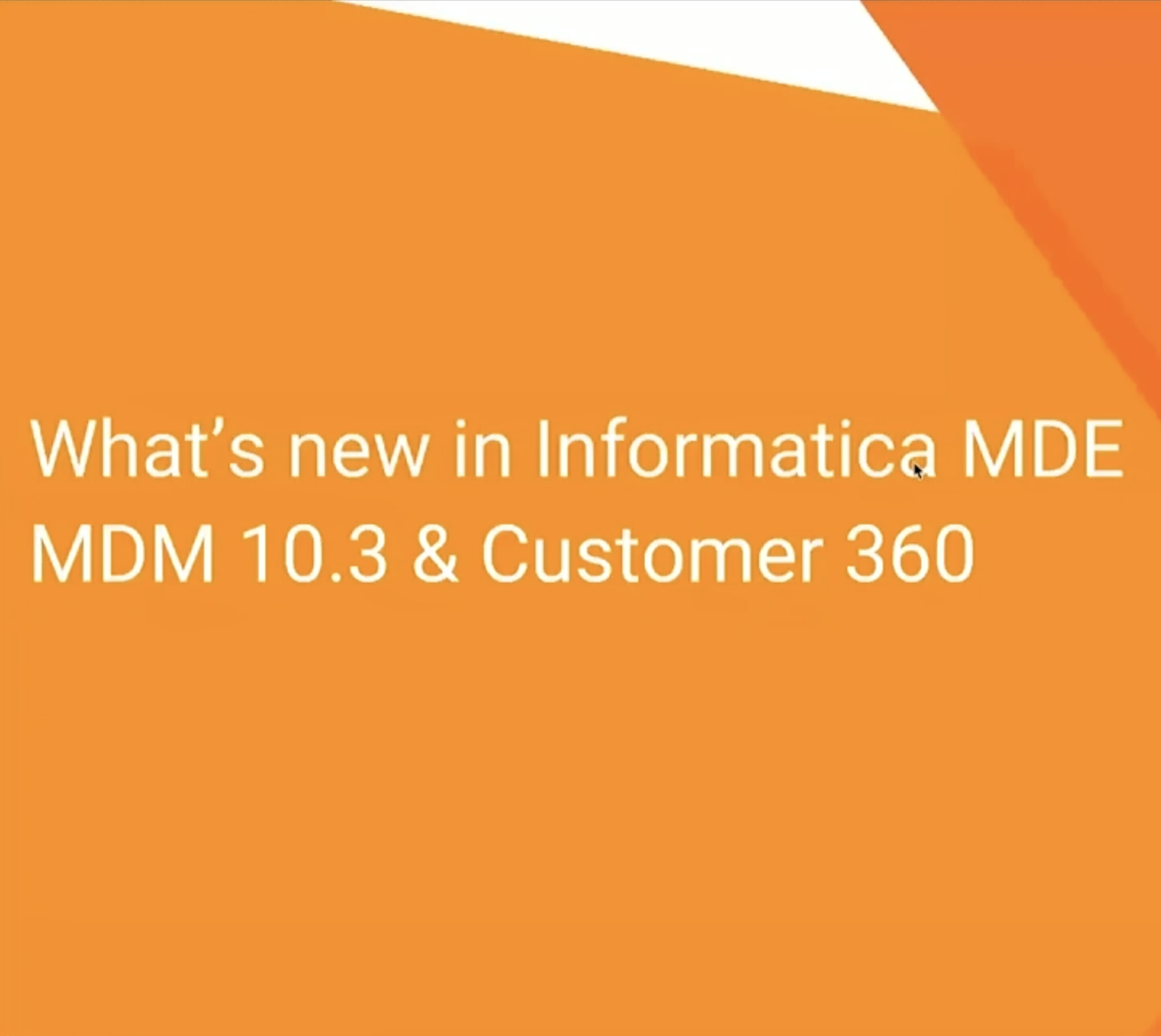 What's New in Informatica MDM